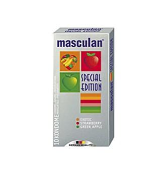 FRUKTIG: Kondomer i tre ulike farger og smaker.