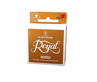 SPIRALFORMET TUPP: Den første kondomen som er utviklet av sexologer.
