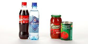 Cola: 10,6 g karbohydrater pr 100 g Farris: 0 karbohydrater Dolmio pastasaus: 7,1 g karbohydrater Hermetiske tomater: 3 g karbohydrater