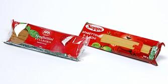 Sopps spagetti – Axa Spaghettini fullkornspasta