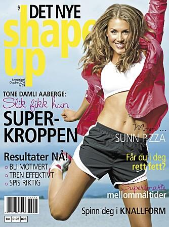 NYTT NUMMER: Tone Damli Aaberge viser treningsprogrammet sitt i neste nummer av Det Nye ShapeUp. Bladet er i salg 20.september.
