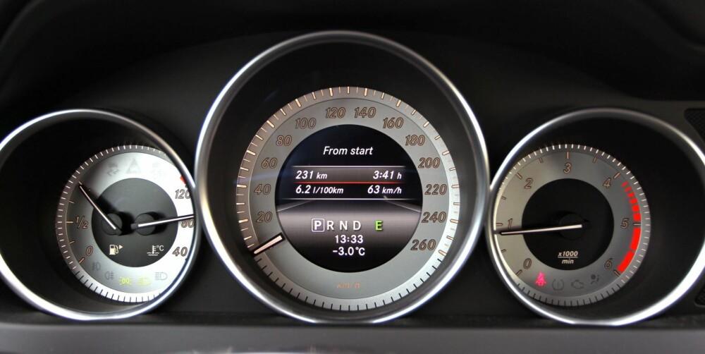 LAVT FORBRUK: I vår faste forbrukstest stod C 220 TCDI 4Matic igjen med et forbruk på 0,61 l/mil. Det gjør den til en av de gjerrigste bilene vi har testet med diesel, firehjulsdrift og automat.