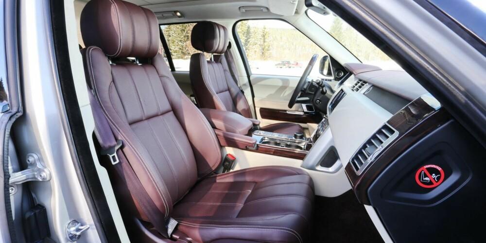 CHESTERFIELD: Range Rover-setene er utformet som kostbare møbler. Nettopp slik de kjennes å sitte i.