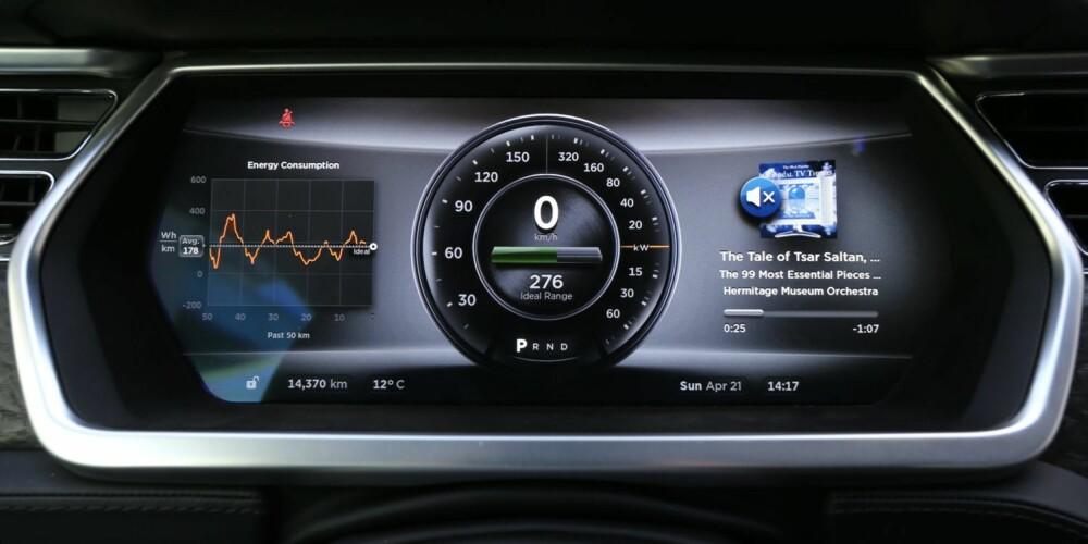 CAPTAIN FUTURE: Instrumentene er konfigurerbare og du kan velge hvilken informasjon som skal komme opp på siden av speedometer og effektmåler.