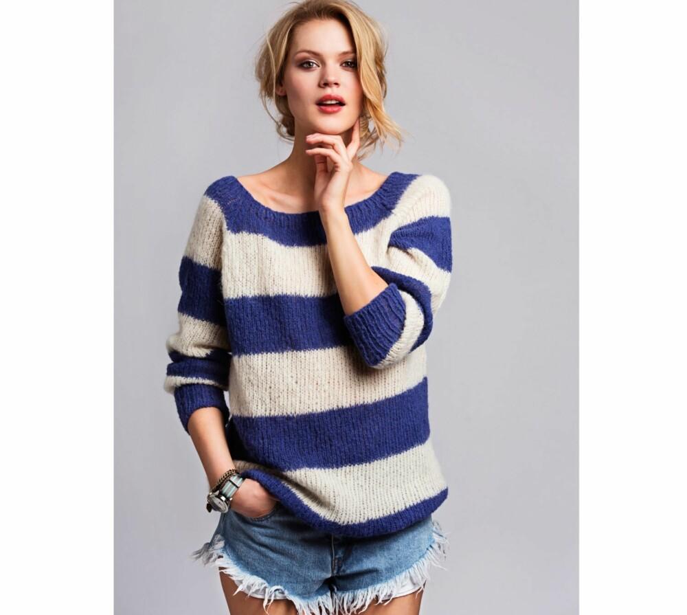 1a15558b STRIKK CATWALK-KOPIEN: La deg inspirere av Acne sin stripete ullgenser i  blått og