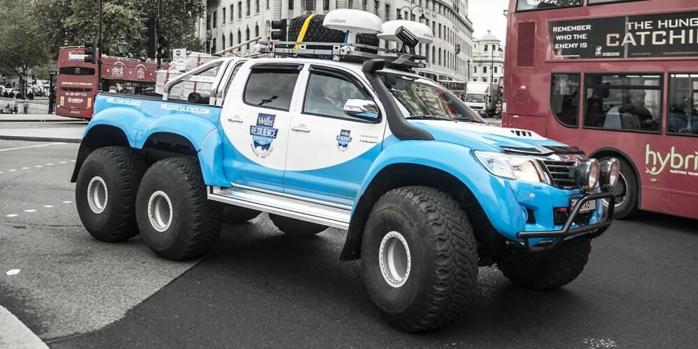 IKKE PÅ HJEMMEBANE: Den passer bedre på vei til Sydpolen enn på vei til Polet. FOTO: Toyota