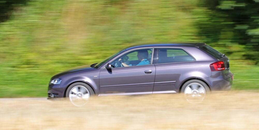 RIMELIG: Om du ikke trenger den ekstra funksjonaliteten i Sportback, er tredørs Audi A3 er merkbart rimeligere alternativ som brukt.