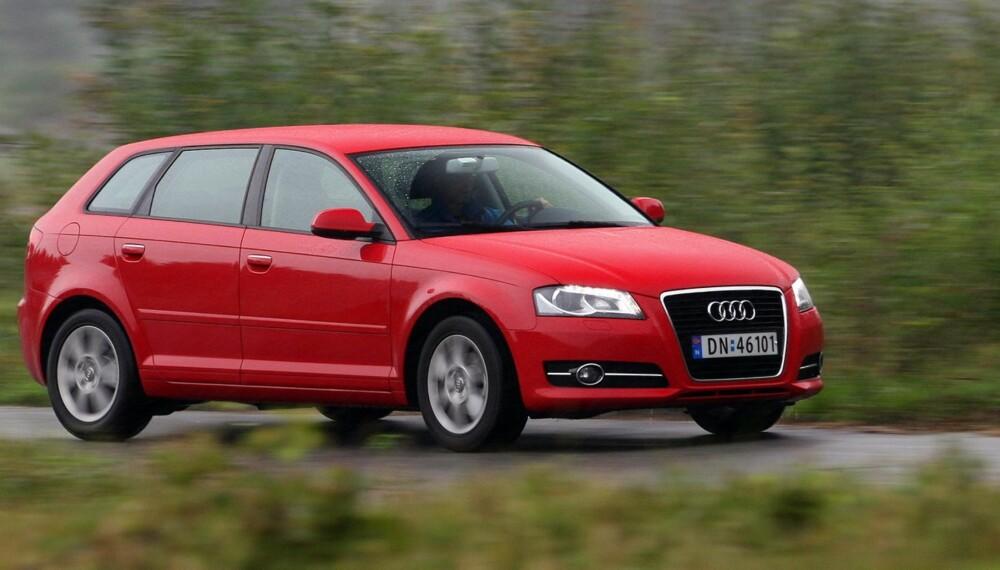 ALLSIDIG: En nyere brukt Audi A3 Sportback har god kvalitetsfølelse, sportslige egenskaper og er praktisk. Her en 1,2 TFSI fra 2010.
