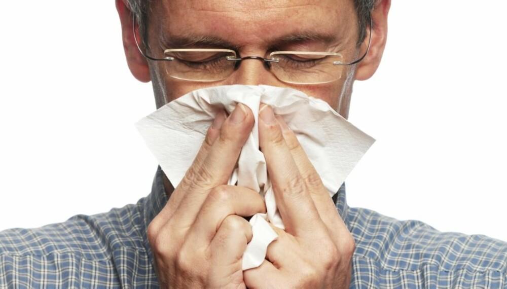 FORKJØLET: Er du bare litt hostete trenger du ikke nødvendigvis frykte svineinfluensa.