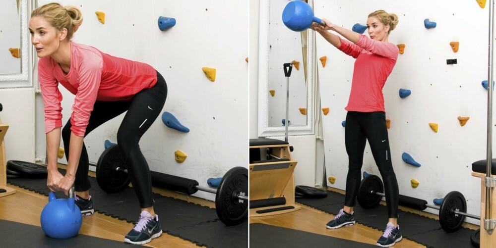 6 - KETTLEBELL: Kettlebell swings ¿ den beste måten å bli sprek på uten å løpe en meter.
