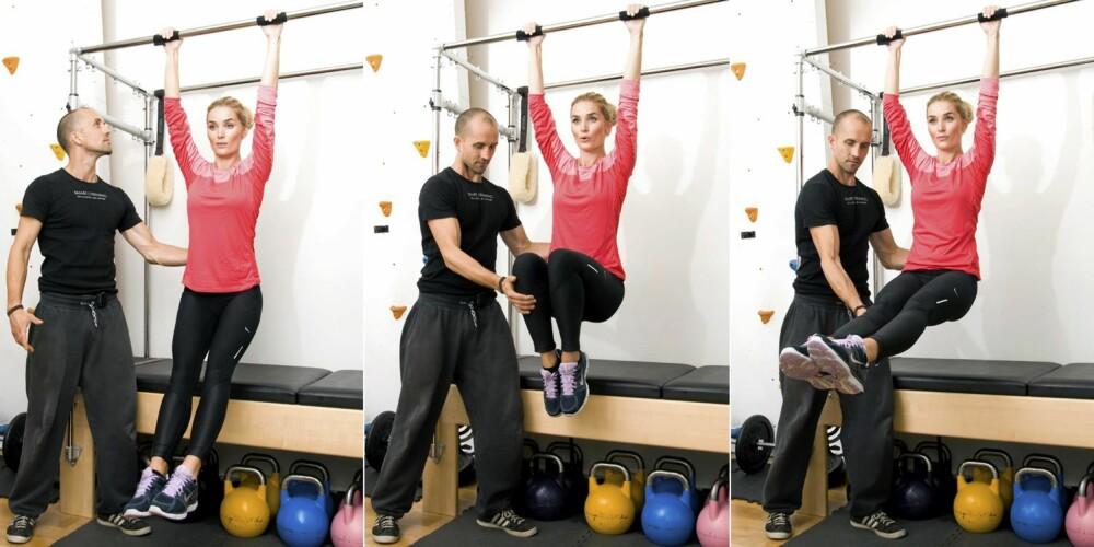 7 - BENHEV: Hengende benløft tar seg av magen, men krever at hele kroppen jobber effektivt.