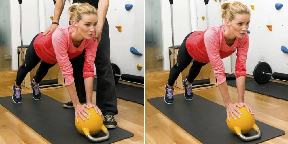 8 - PLANKEN: Planken blir som en ny øvelse med en ustabil kule under hendene.