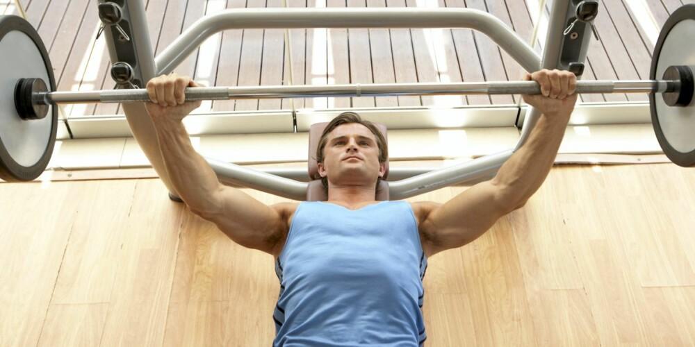 STYRKETRENING: Kondisjonstrening er viktig for hjertets slagkraft, men økt muskelmasse gjør at det blir lettere å løfte og bære småting i hverdagen.