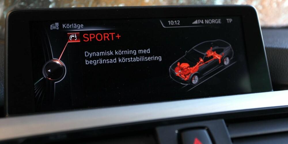 TILPASSER SEG: Begge biler har adaptivt sportsunderstell som lar deg velge mellom tilstrekkelig smidig landeveiskomfort og svært fast understell for hardkjøring. FOTO: Petter Handeland