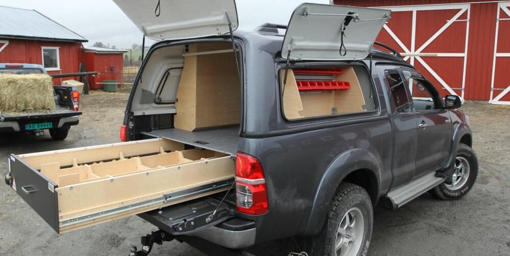 SNEKKER ANDERSEN: Er du på jakt etter verktøyskrin på firehjuls, er Cargo-modellen rett bil for deg.