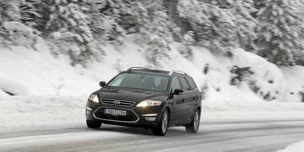 HOLDER FOR DE FLESTE: Nei, Ford Mondeo kjennes ikke sprek med 1,6-liters dieselmotor. Men den holder for 90 % av folket 90 % av tiden.