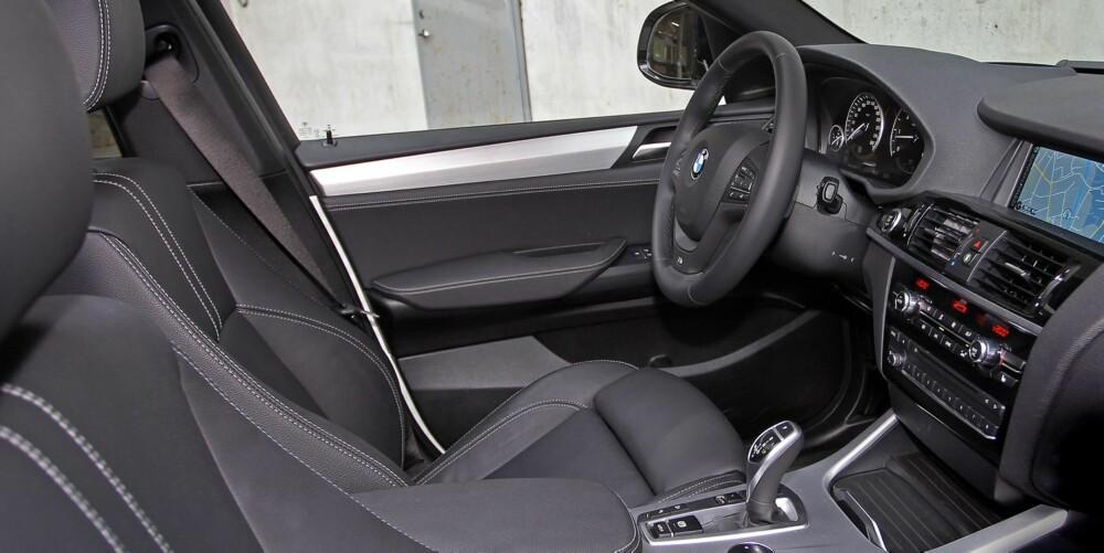 TUNG OG SOLID: Materialkvaliteten er i ypperste klasse. Interiøret er forseggjort og gir en tung og solid følelse.