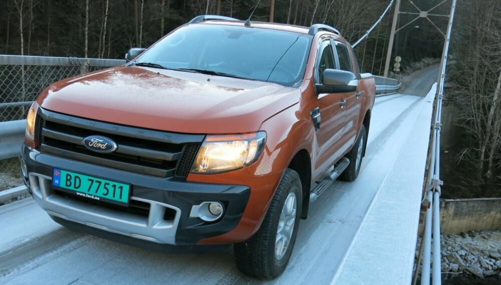 WILDTRACK: Ford Ranger Wildtrack som kom i 2012 var blant de første pickup-ene med moderne sikkerhetsutstyr.