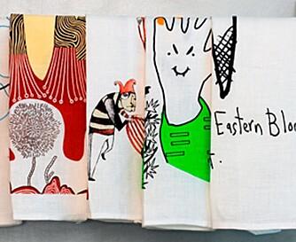 LEKENT: Gøyale kjøkkenhåndklær fra blant annet Third Drawer Down får du hos Chee Soon Fitzgerald.