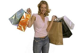 SHOP TILL YOU DROP: Du slipper å drasse rundt med shoppingposer hvis du bestiller på nett.