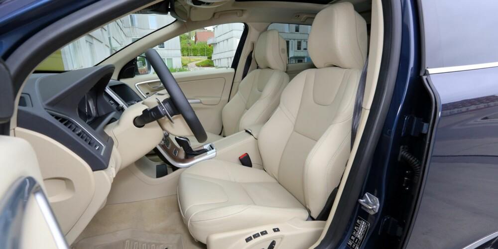 KLASSE: Volvo er kjent for sine nydelige seter, og i R-versjonen av XC60 finner du noen av de aller beste.