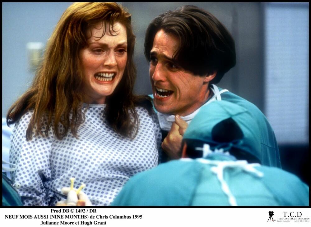 NINE MONTHS: Jeg elsker denne filmen! Hugh Grant, Julianne Moore og en fantastisk Robin Williams som russisk gynekolog - what's not to like?