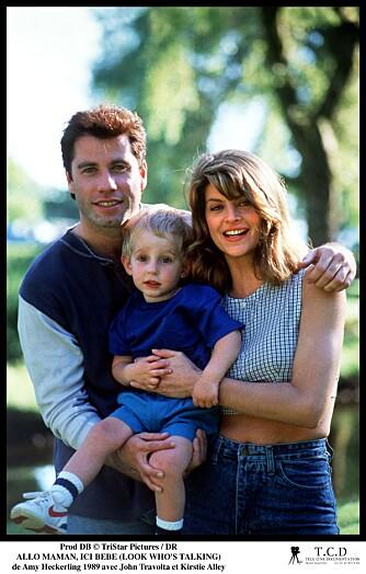 SE, HAN SNAKKER: John Travolta, Kirstie Alley og en baby. Perfekt kombo!