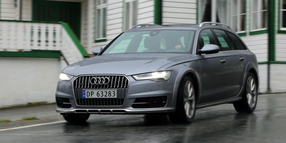 BEDRE: Noen mener at en stor SUV er en ideell norgesbil. Vi tror at Audi A6 Allroad kan være et bedre valg for mange. Visst er den dyr, men den er rimeligere enn en stor SUV med tilsvarende motor. Ikke minst er den lettere, raskere og smidigere. I offroadmodus har den like god bakkeklaring som flere av SUV-ene.