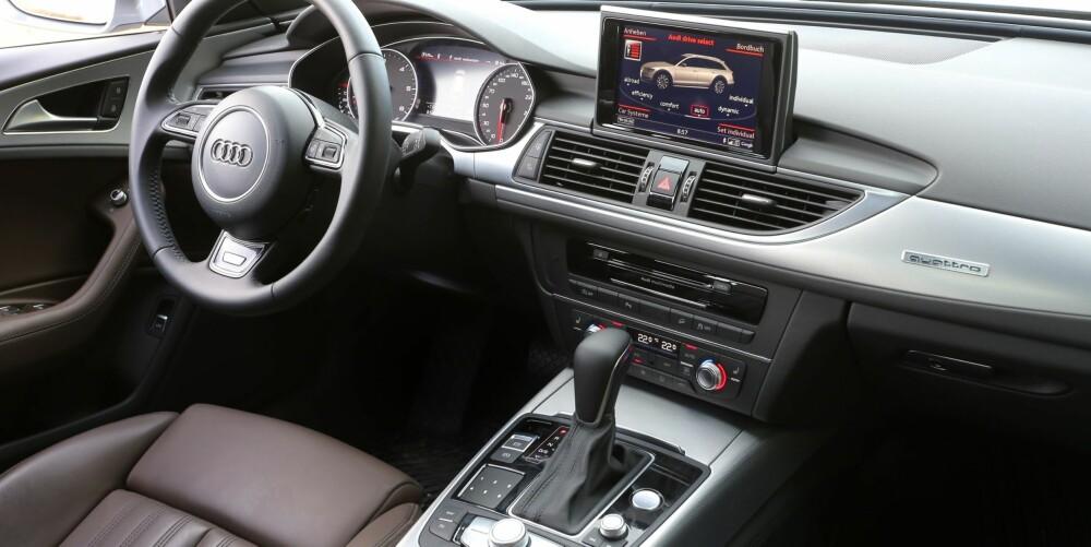 SOLID: Er det én ting Audi er dyktige til, så er det å gi interiøret høy kvalitetsfølelse.