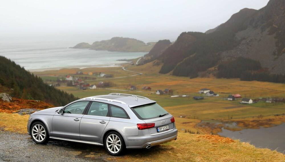 ALLSIDIG: Den mest slående styrken til Audi A6 Allroad er allsidigheten. Den takler vilt vær og natur i Norge like godt som lange etapper på motorvei. Alltid er komforten på høyt nivå.