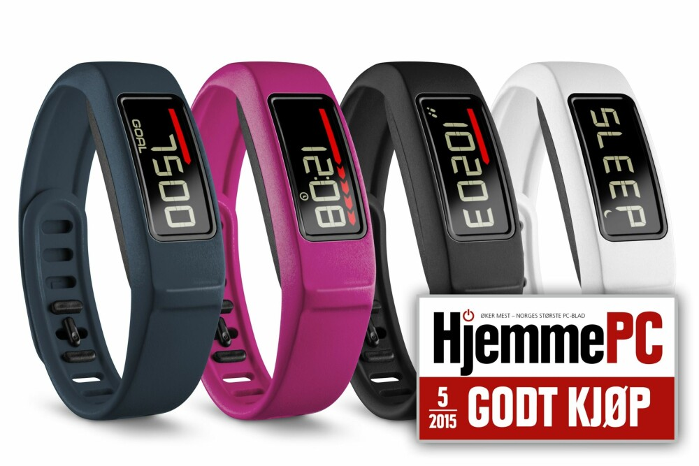 GODT KJØP: Garmin Vivofit 2 er et godt kjøp. Modellen Vivofit 2 HRM har også støtte for pulsbelte.