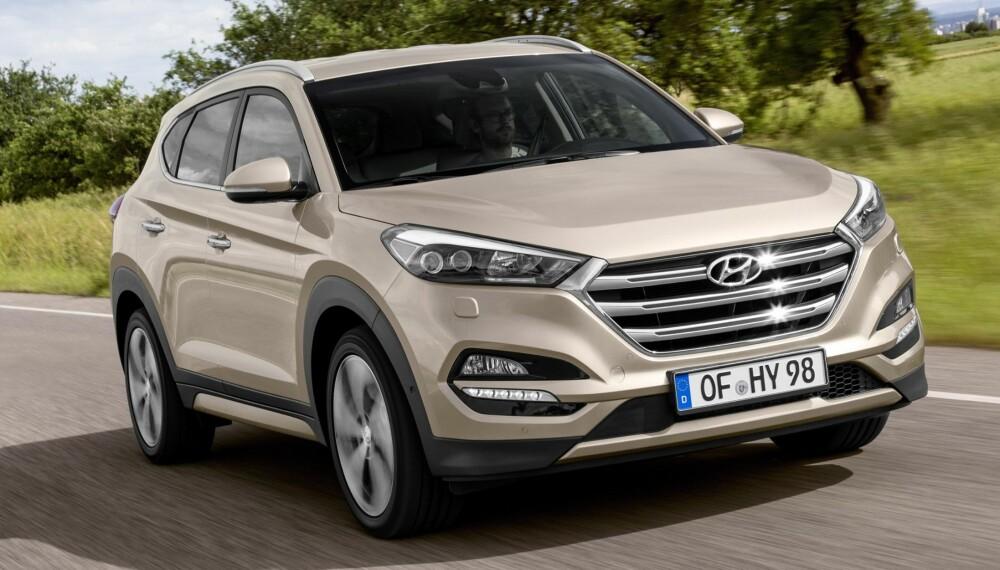 SUV: Med forhjulsdrift blir Hyundai Tucson blant Norges billigste SUV-er i kompaktklassen. FOTO: Produsent