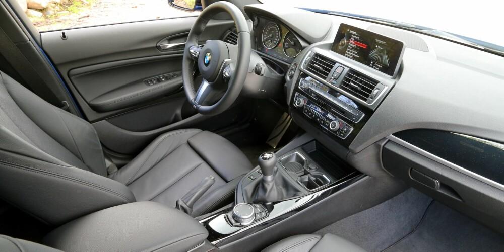 OPPGRADERT: Interiør og utstyrsnivå er løftet til nyeste BMW-standard.