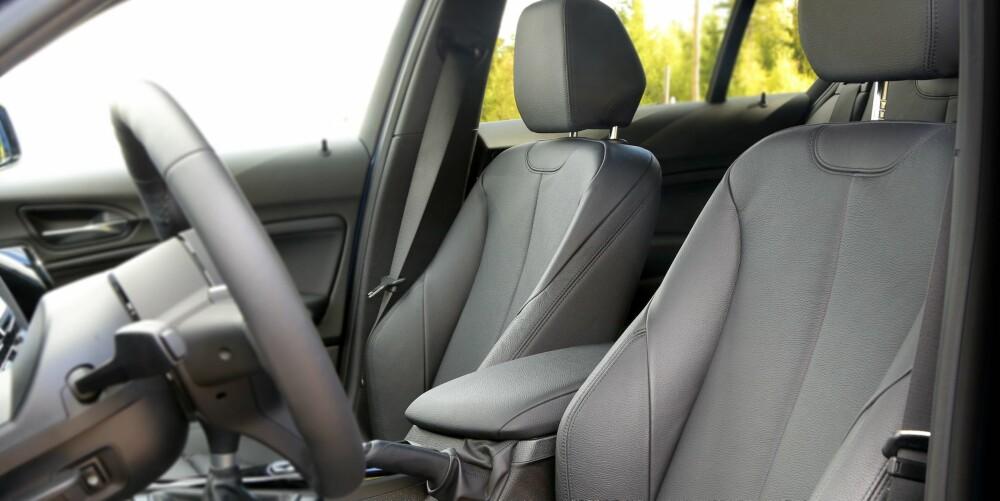 """""""MÅ HA"""": Sportssetene i BMW 1-serie øker komforten og bidrar til opplevelsen av en sportslig bil."""