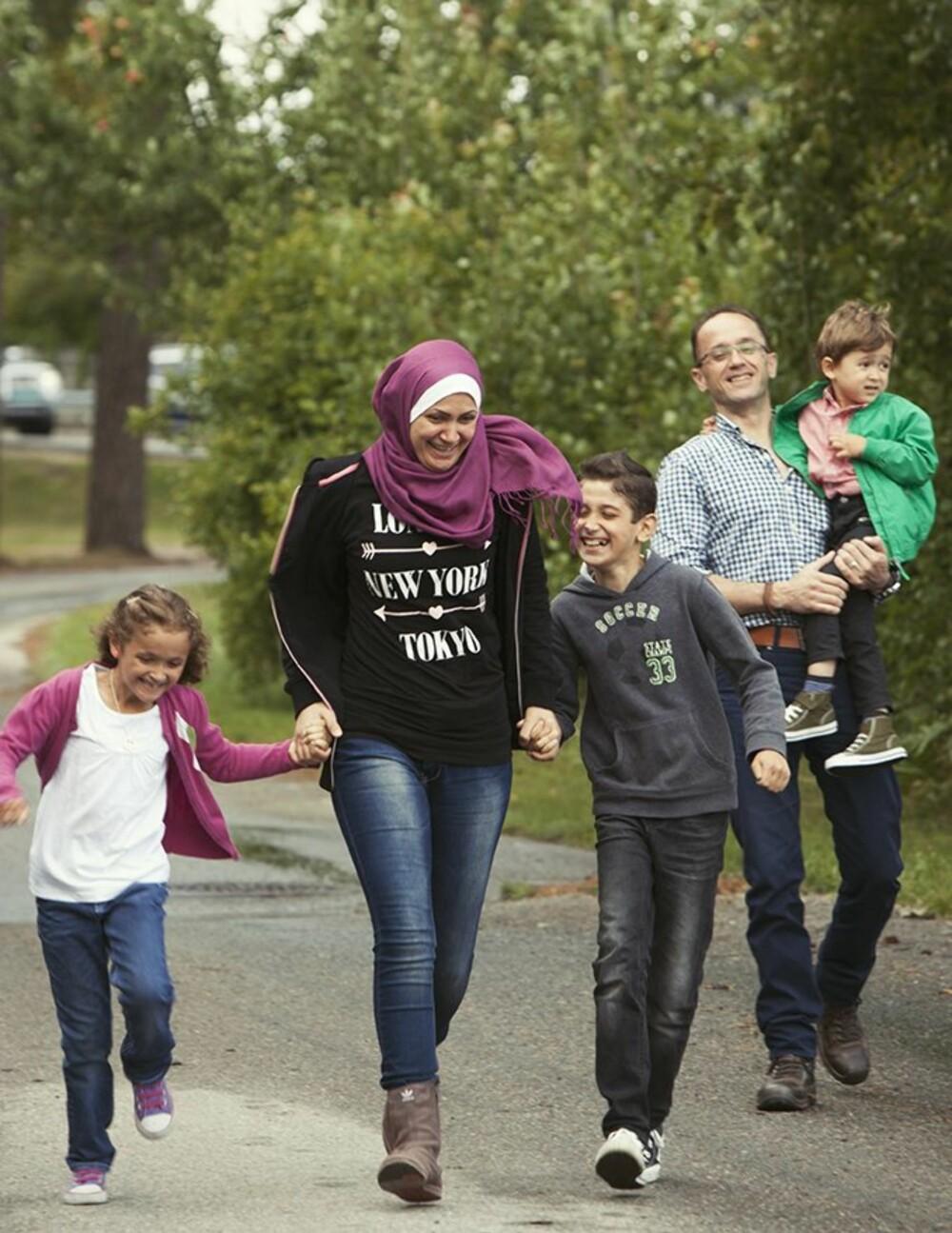 I NORGE: Familien Fedda kom til Norge i juni 2014 som kvoteflyktninger.