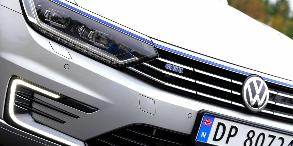 MILJØ OG KRAFT: Versjonsbetegnelsen GTE viser at VW vil at den ladbare hybriden skal framstå som noe mer enn en (kanskje kjedelig) miljøbil. Det mangler ikke på krefter.