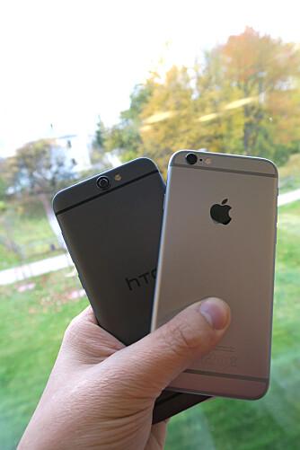 HTC vs. iPHONE: HTC One A9 og iPhone 6s er unektelig like, men hvem har kopiert hvem?