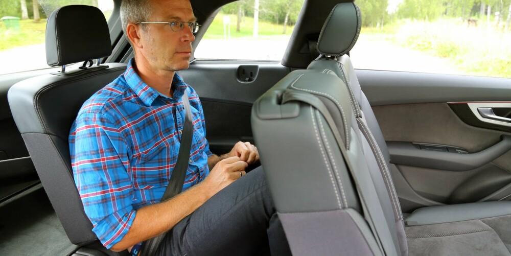 HOLDER MÅL: Det er først på bakerste seterad det begynner å knipe på plassen. Fortsatt kan en voksen person sitte der på kortere turer.