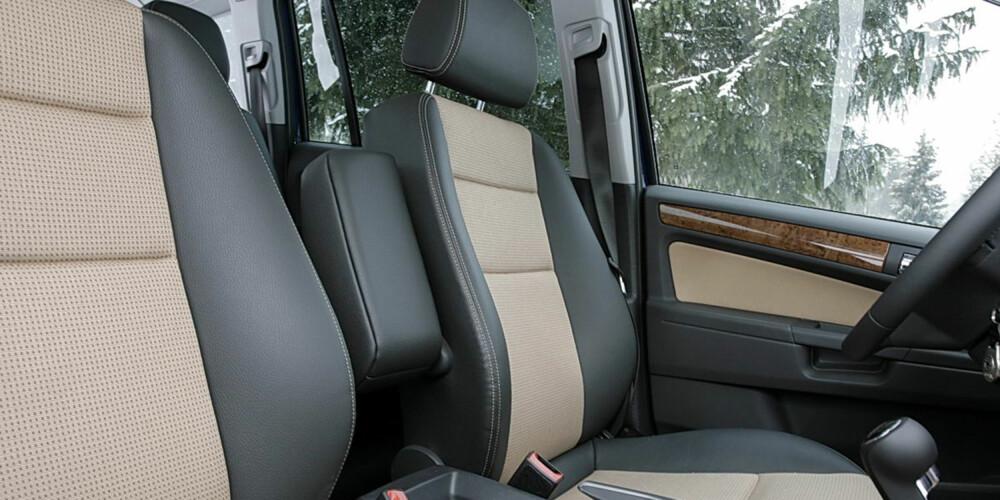 BARE NESTEN: Opel Zafira har gode seter, men sittestillingen er mer rett opp og ned enn i en vanlig stasjonsvogn.
