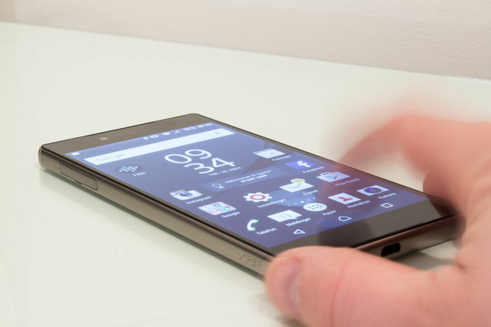 GOD SKJERM: Sony Xperia Z5 Premium byr på en av de aller beste mobilskjermene akkurat nå.