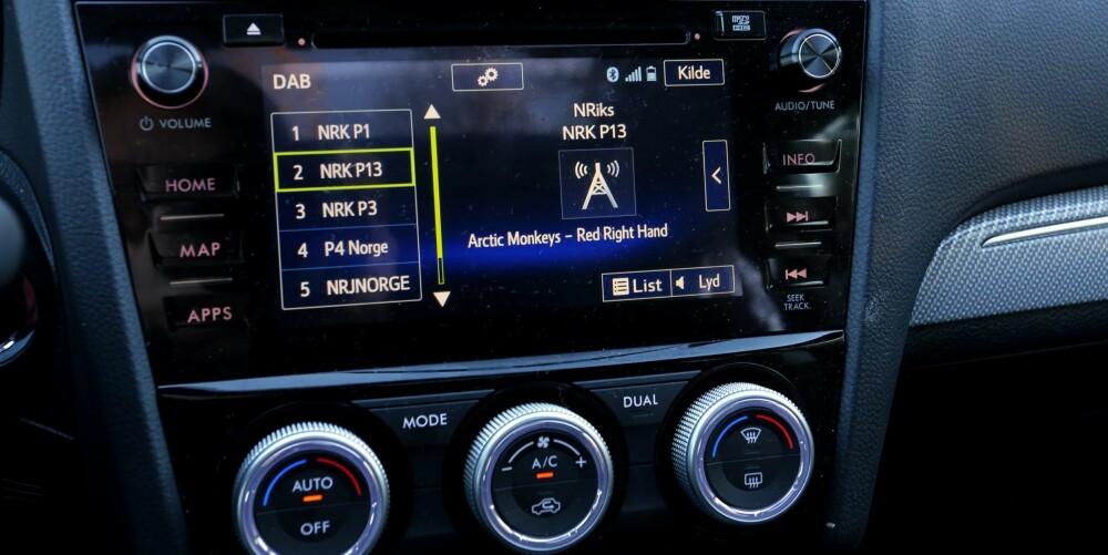 REFLEKSER: Djevelen ligger i detaljene. I flere Subaru-modeller vi har kjørt, har det vært mye gjenskinn i info-/naviskjermen. Så også i Levorg.