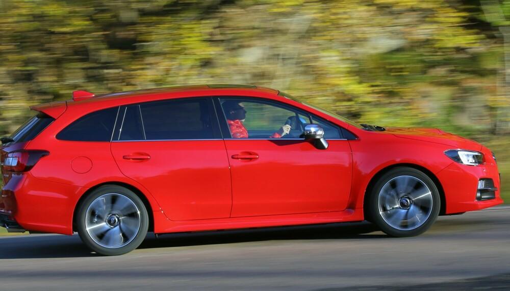 SPORTSLIG: Subaru sier at Levorg skal være en sportslig stasjonsvogn. Det er ikke tomme ord.