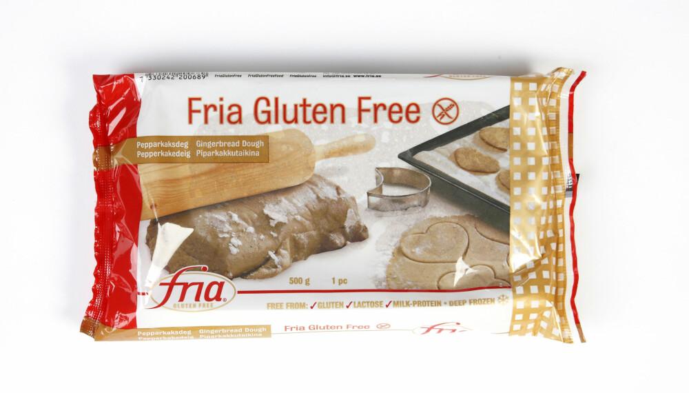 FRIA GLUTENFRIE PEPPERKAKEDEIG: Her er det aller lavest innhold av sukker, men deigen inneholder mye salt og fett.