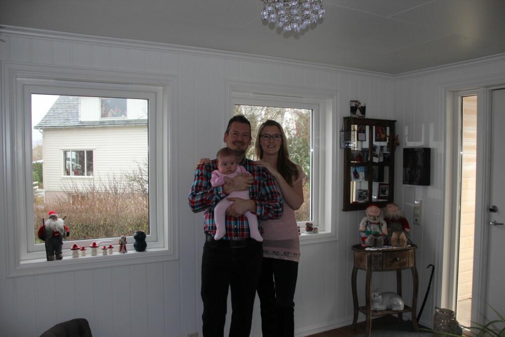 LYKKELIGE: Gjertru, Ronny og Linea er en lykkelig familie.