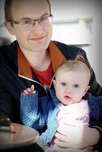 PAPPALYKKE: Pappa og Veronica.
