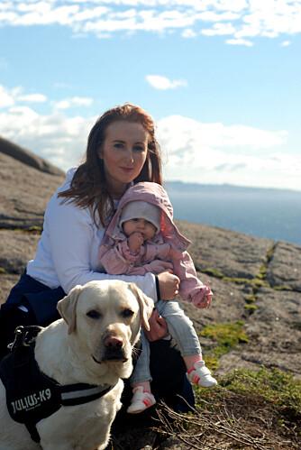 TURFAMILIE: Familien drar ofte på ferie sammen. Her på Brufjellet.