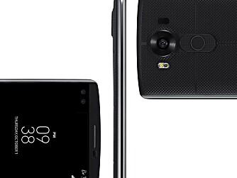 SLANK: LG V10 er stor men tynn. Med sine 8,6 mm er den likevel ikke tynnest i klassen.