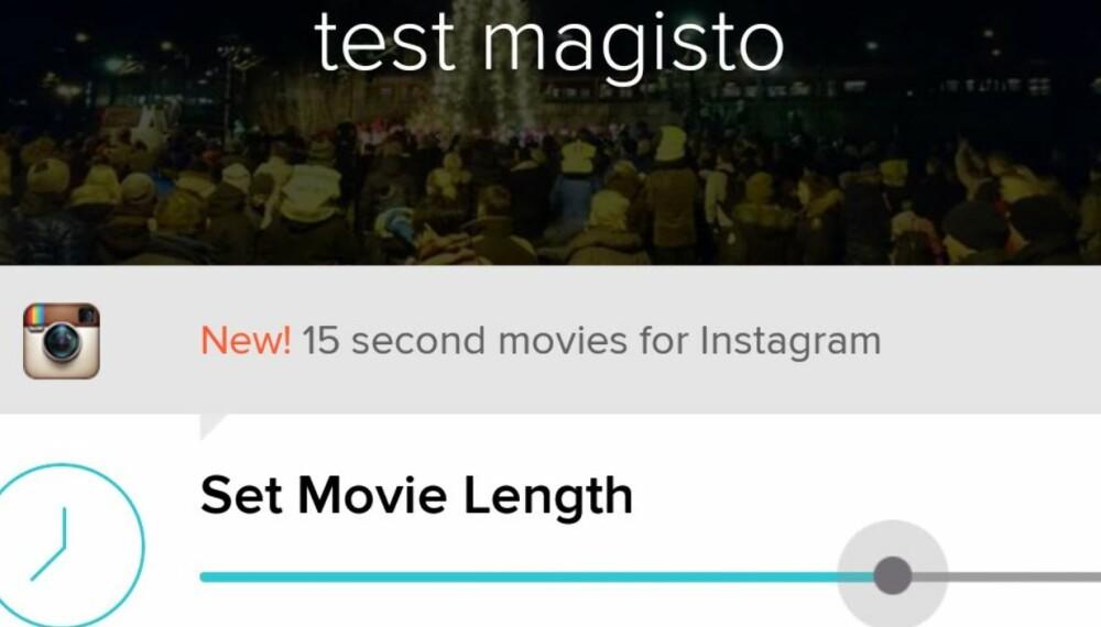 BEGRENSET: Magisto føles litt begrensende, men har mye automatikk å by på og den lager pene filmer.