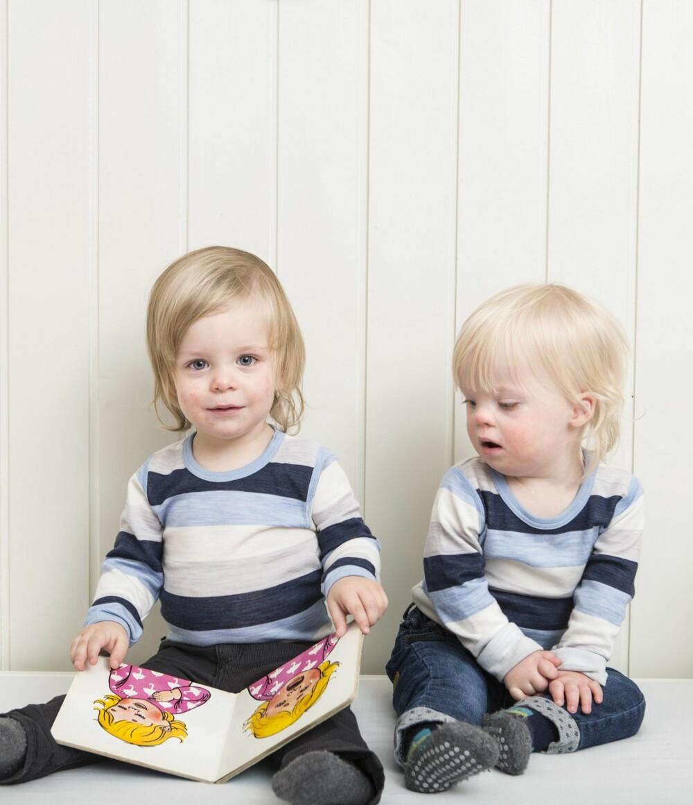 GODT SØSKENFORHOLD: Anton og Herman har et nært forhold, også i barnehagen.