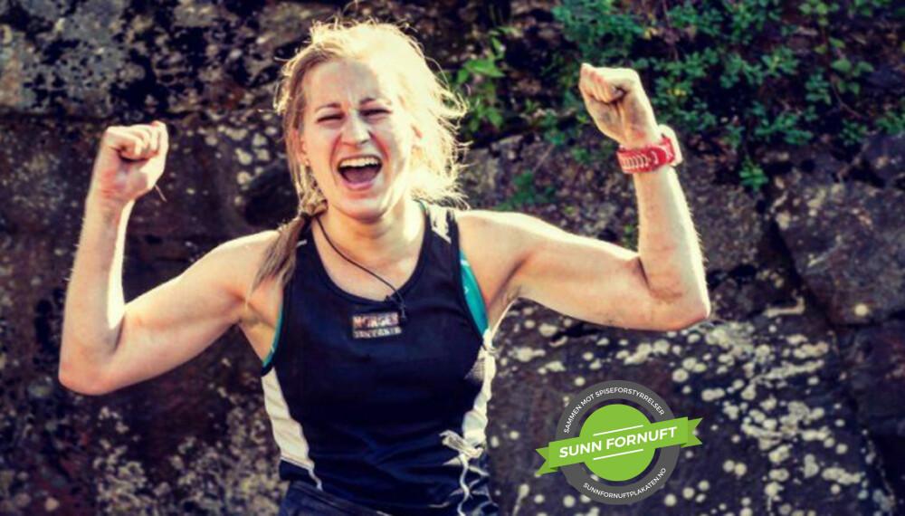 TØFF: Caroline deltok i våres i NRKs serie «Norges tøffeste». I denne teksten forteller hun om hvordan hun motiverte seg selv under bakkeløpkonkurransen.